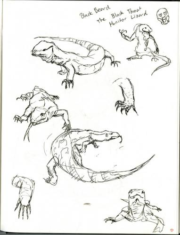 Sketchbook Page - Lizards
