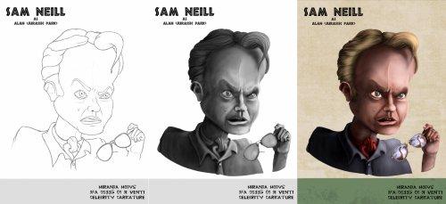 Celebrity Caricature - Sam Neil